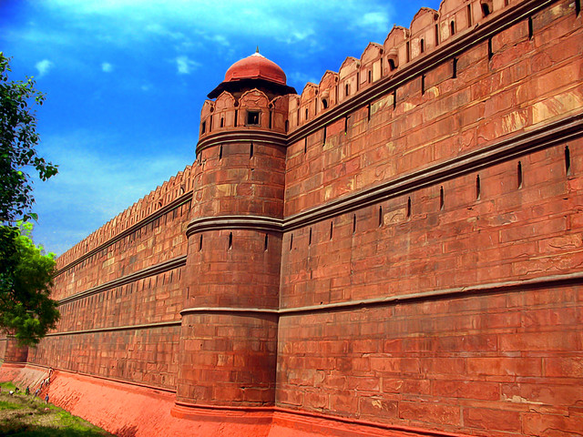 Red Fort boundary walls