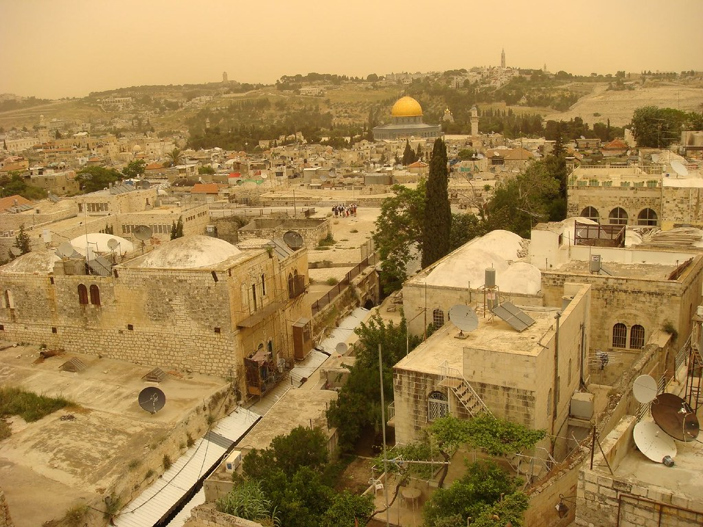 View From The Roof Of The Maronite Guest House Old City J