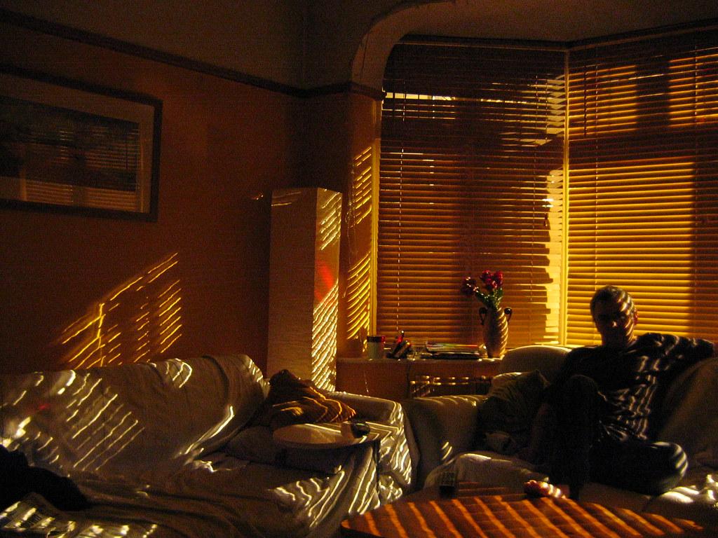 street light through the blinds stripes warren flickr. Black Bedroom Furniture Sets. Home Design Ideas