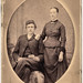 vintage portrait of victorian couple, great-great-grandparents