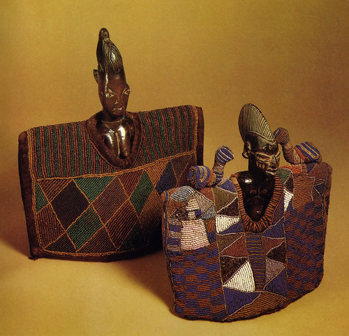 Yoruba Ibeji Twin Figures with Beaded Garments | by Heart of Áfrika Designs