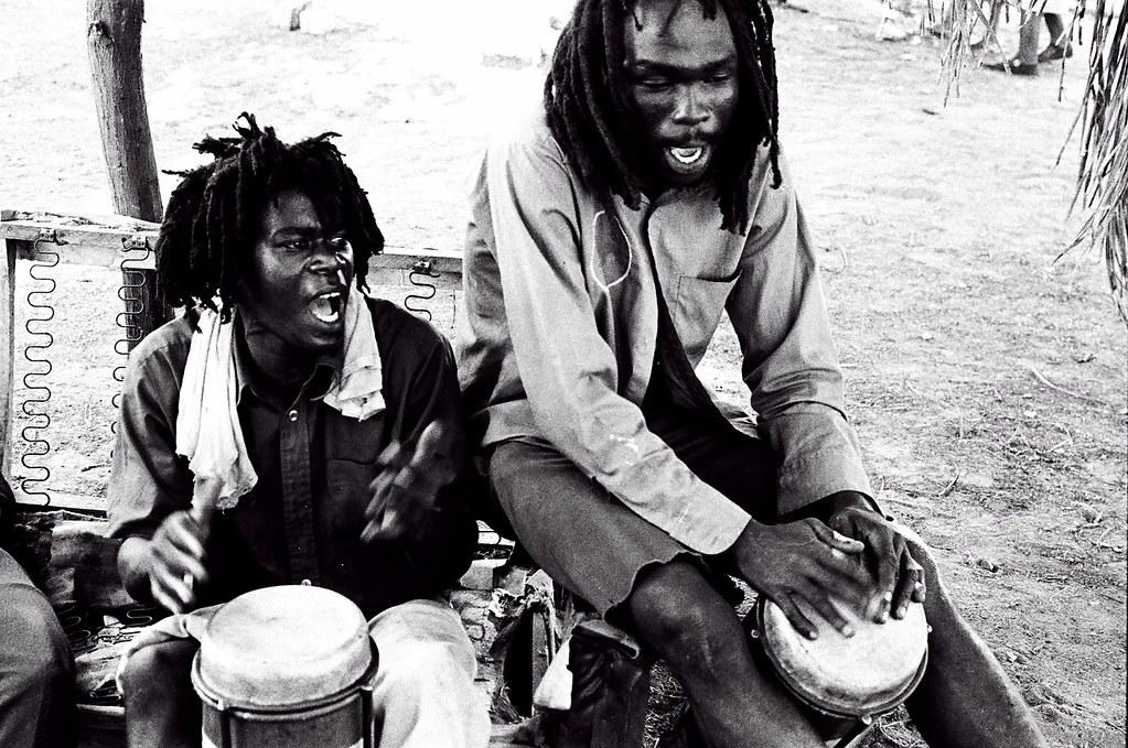 rastafarian nyabingi drummersbull bay jamaica1979 flickr