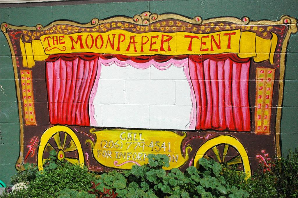 ... USA The Moonpaper Tent sideshow wagon wall mural Roosevelt Seattle Washington USA & The Moonpaper Tent sideshow wagon wall mural Roosevelt u2026 | Flickr