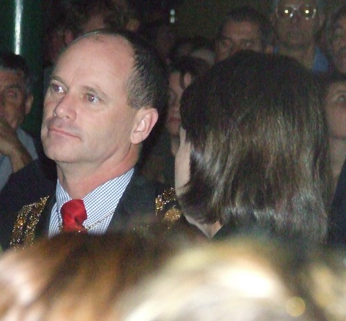 Brisbane Lord Mayor Campbell Newman and Queensland Deputy Premier Anna Bligh (black hair, head turned away from camera) - 070425 Anzac Day Dawn Service, Shrine of Remembrance, Anzac Square, between Ann and Adelaide Sts, Brisbane City, Queensland, Australi | by David Jackmanson