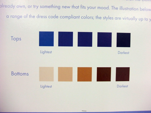 Wire Color Code Chart: Dress code colors | Chart showing the colors permitted underu2026 | Flickr,Chart