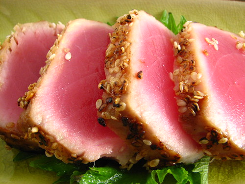 Pan Seared Ahi Tuna -- Close-up | by Sashertootie