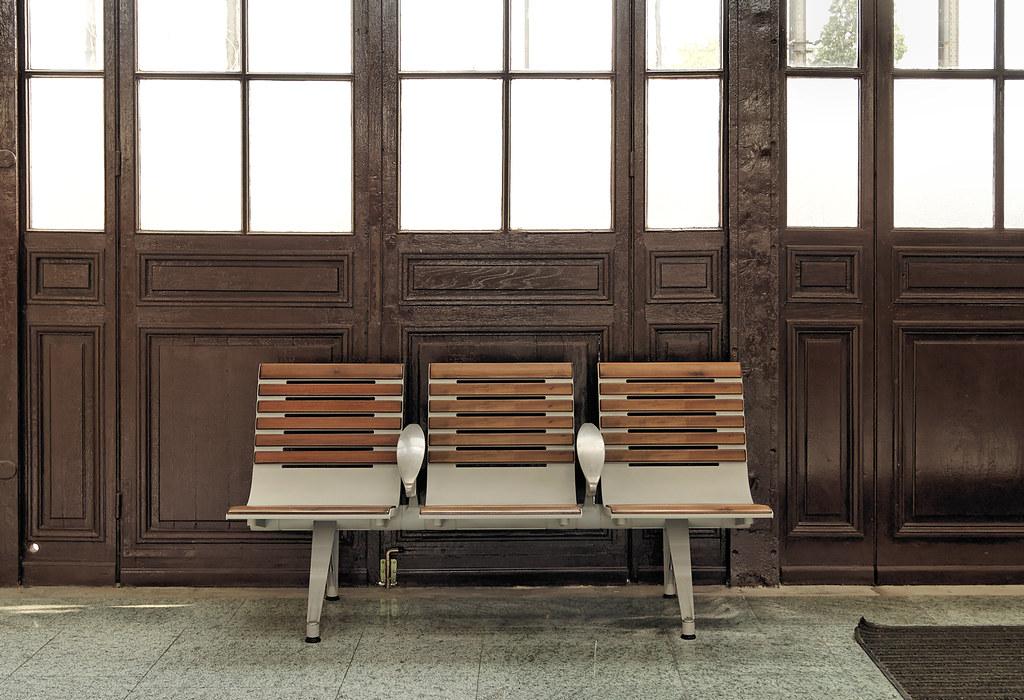 have a seat inside the railroad station la rochelle fran s amo flickr. Black Bedroom Furniture Sets. Home Design Ideas