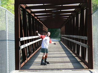 Huckleberry Trail: Tony on Bridge | by Vicky TGAW