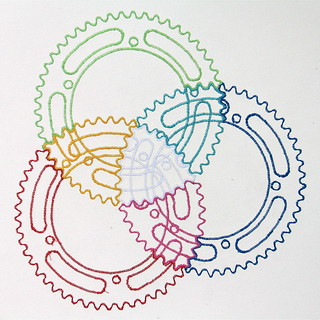 Embroidered Campagnolo Chainring | by ! ramblinworker