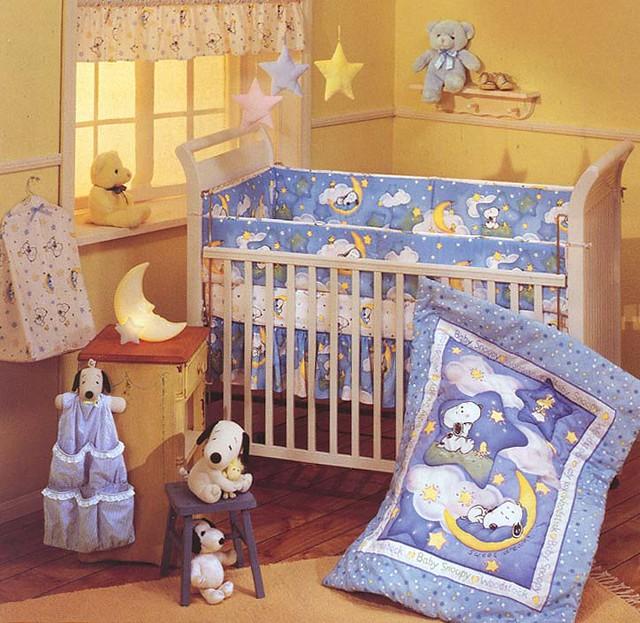 Sleepytime Snoopy Baby Bedding Crib Set | Sleepytime ...