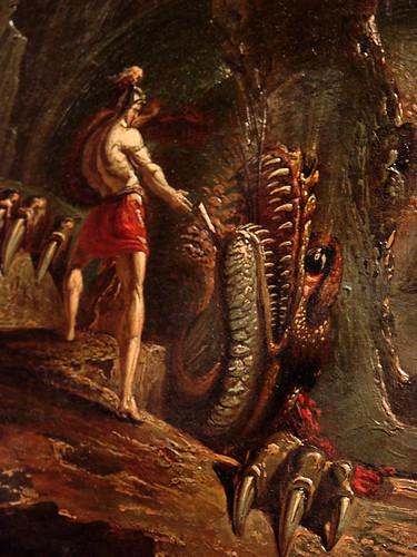 Cadmus takes the drakon's teeth...