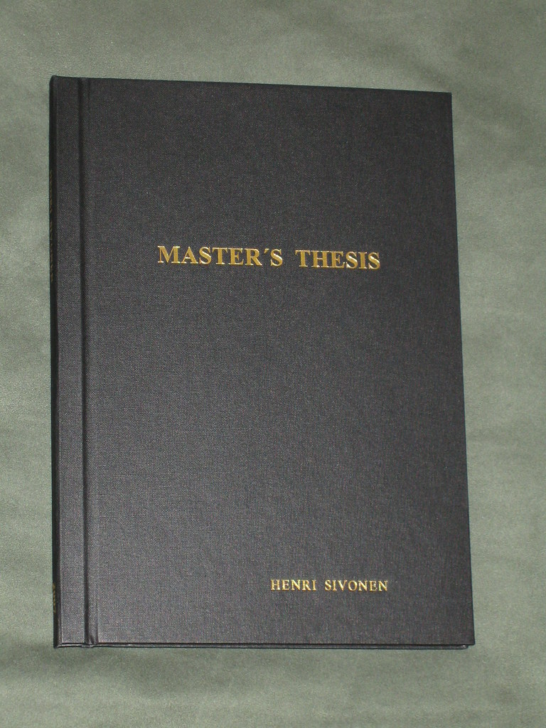 Master thesis vs dissertation