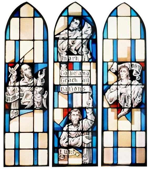 Gospel-Writers.jpg   Triptych window in the Sudekum Chapel d…   Flickr