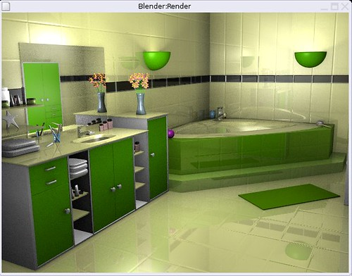 salle de bain verte merci blender gamy flickr