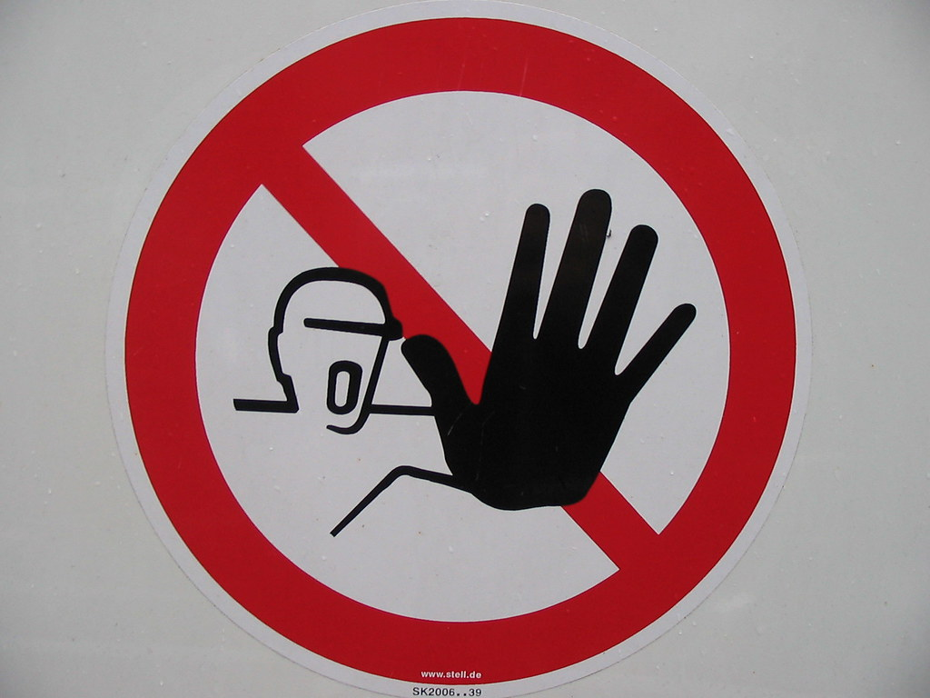 Stay out! - This sign is posted to the fencing around a buil… - Flickr