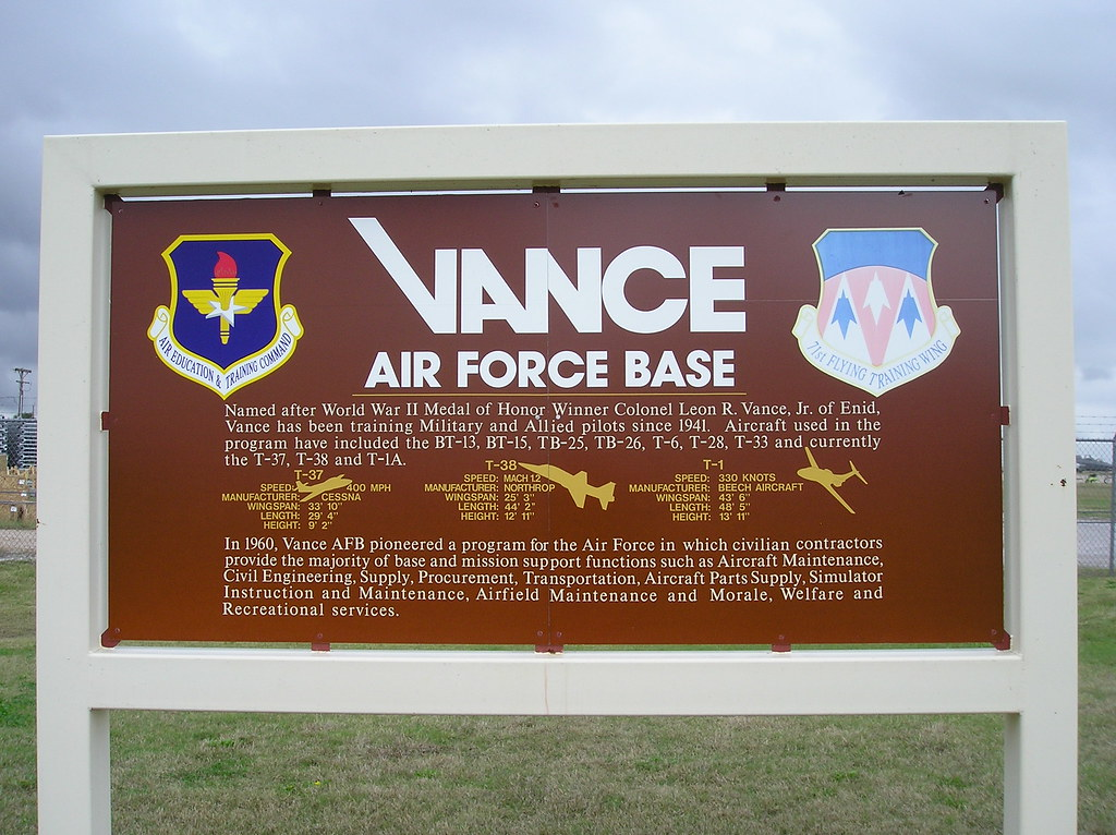vance afb online dating Complete aeronautical information about vance air force base (enid, ok, usa), including location, runways, taxiways, navaids, radio frequencies, fbo information, fuel prices, sunrise and sunset times, aerial photo, airport diagram.