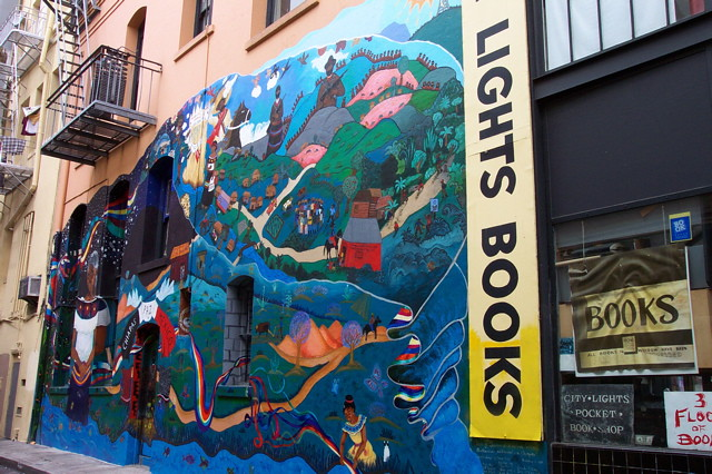 City lights bookstore mural jamison wieser flickr for City lights mural
