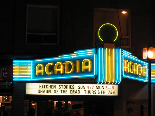 Acadia Theatre Marquee at Night | by Chris Campbell