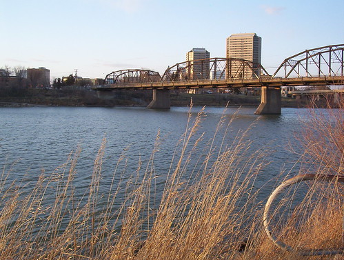 Victoria Bridge and downtown Saskatoon | by Wendy Cooper