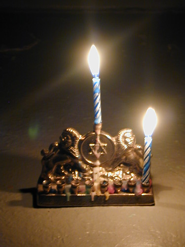 hanukkah ~ and menorah is lit | by striatic