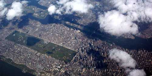 Central Park From Above Central Park Seen From The Air