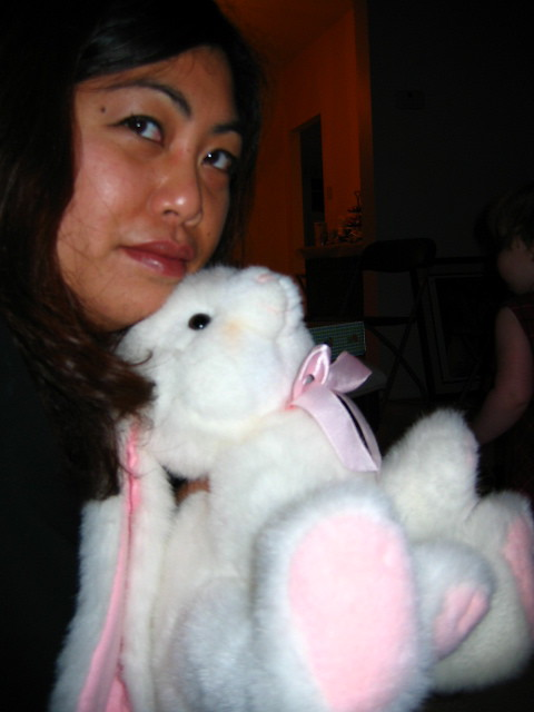 Miss Kyra shared her bunny with me
