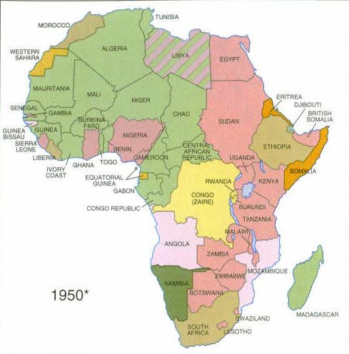 1950 Map Of Africa | Stillwonder