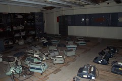 Hunter's Point, Building 253: Abandoned typewriters in the cryptography section | by Telstar Logistics