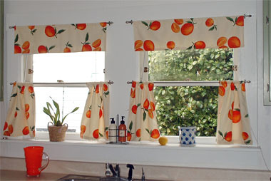 Incroyable ... Kitchen Curtains In Vintage Fabric | By Merideth