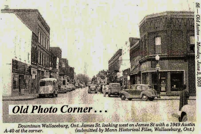 Old Cars Photos >> Wallaceburg, Ontario, 1950 | [Images from Old Autos newspape… | Flickr
