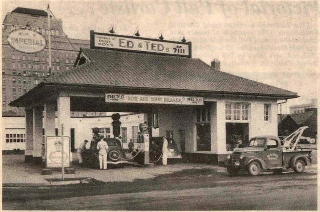 Early gas station calgary ed ted 39 s service station for Ted s fishing station