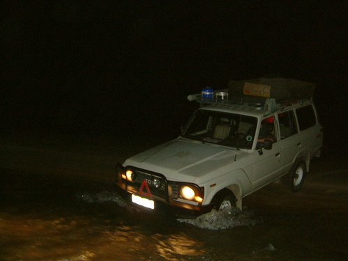 Driving on the beach crossing river barra beach near the lighthouse South East Africa Mozambique | by moron noodle