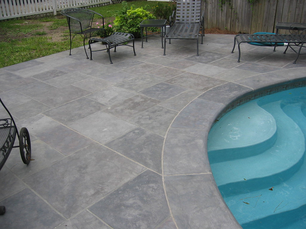 Waterproof Cement For Pools : Stamped concrete decking pablo padinka flickr