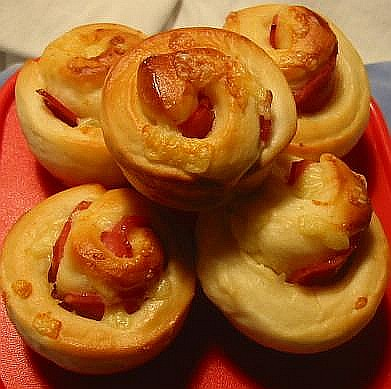 Ham & Cheese Rolls | Feather-soft rolls, with chopped ham ...