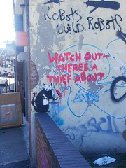 'Watch out - there's a thief about', Banksy, Liverpool by new folder