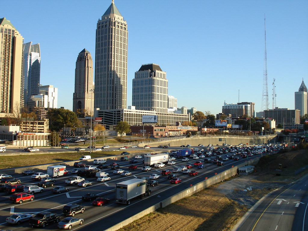 Atlanta Traffic Rush Hour On The Downtown Connector