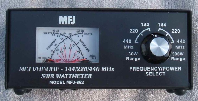 MJF SWR Meter | MFJ VHF/UHF - 144/220/440 MHz SWR Wattmeter