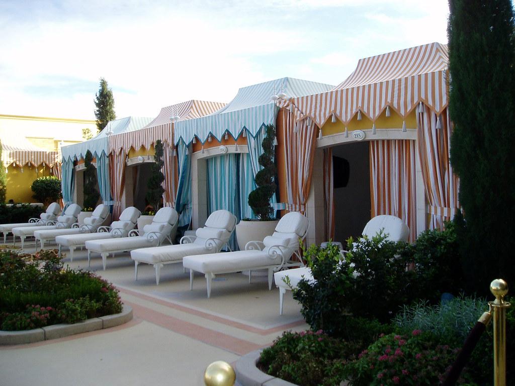 White Pool Cabana