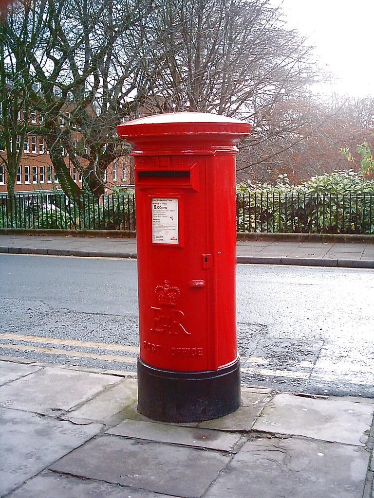 Post Box Mail Box Winckley Square North Side Elizabeth