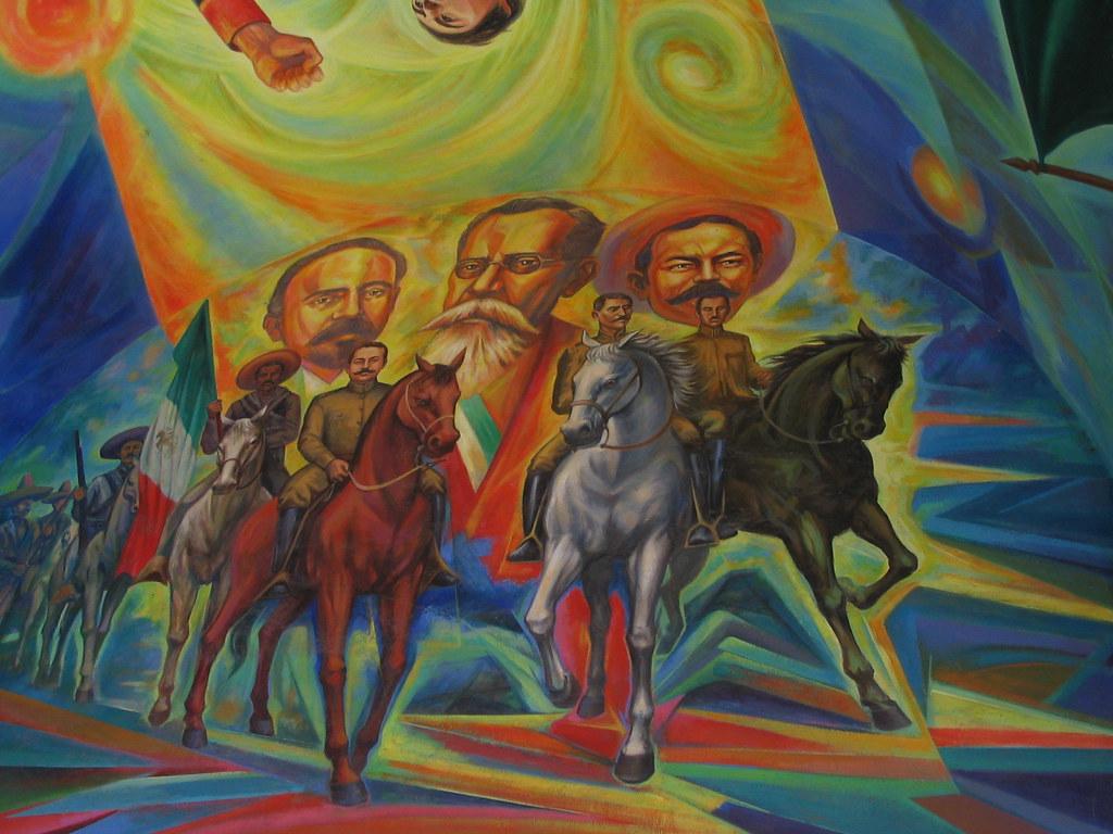 revolucion mexicana mural del interior de palacio de