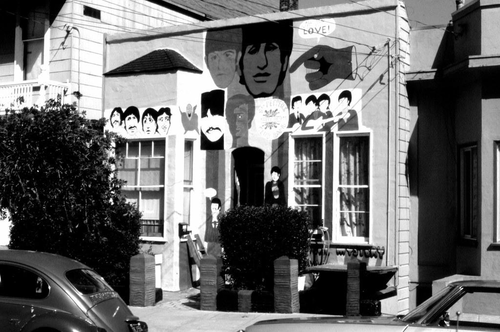 """Beatles House,"" 1978 | ""Beatles House,"" 191 Precita Ave ..."