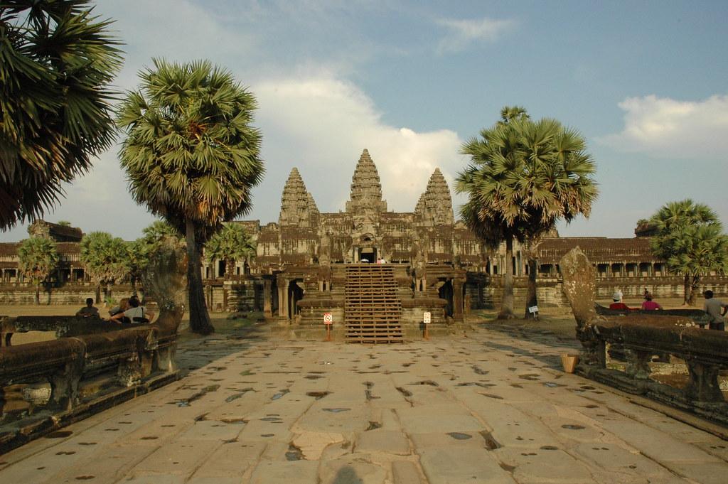 Angkor Wat  Angkor Wats Towers As Seen From The West -2852