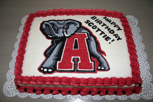 Alabama Football Birthday Cakes