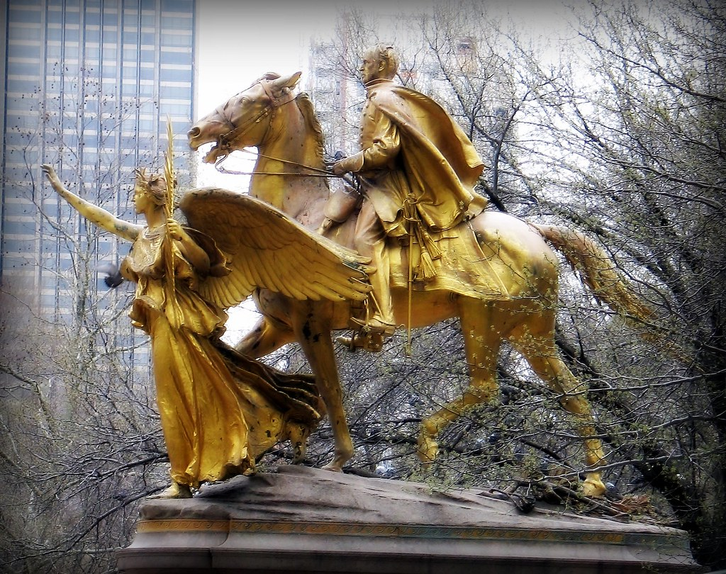 Statue Goddess Of Victory Central Park Statue Sherma
