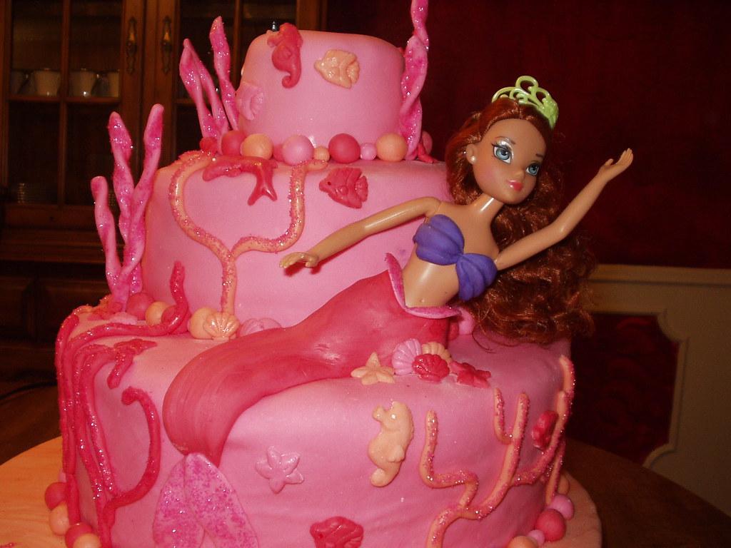 Little Mermaid Cake Idea Decor