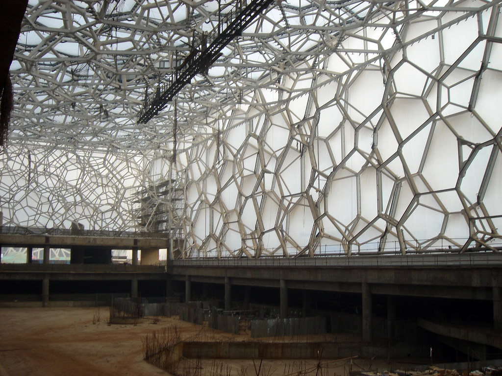 Watercube under construction - interior - 2007-1-24 (4 ...