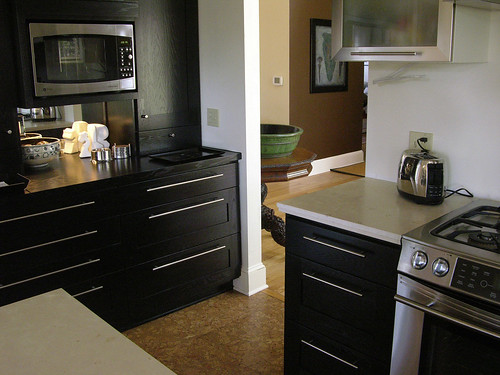 I Like The Black Cabinets. This