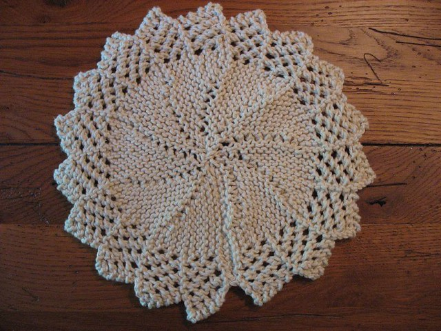 Free Knitted Round Dishcloth Patterns : Knitted Lacy Round Dishcloth Pattern here. Used up most of? Flickr
