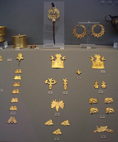 mycenaean jewelry from shaft graves | fine gold jewelry