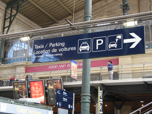 gare du nord taxi parking wayfinding even parisian train flickr. Black Bedroom Furniture Sets. Home Design Ideas